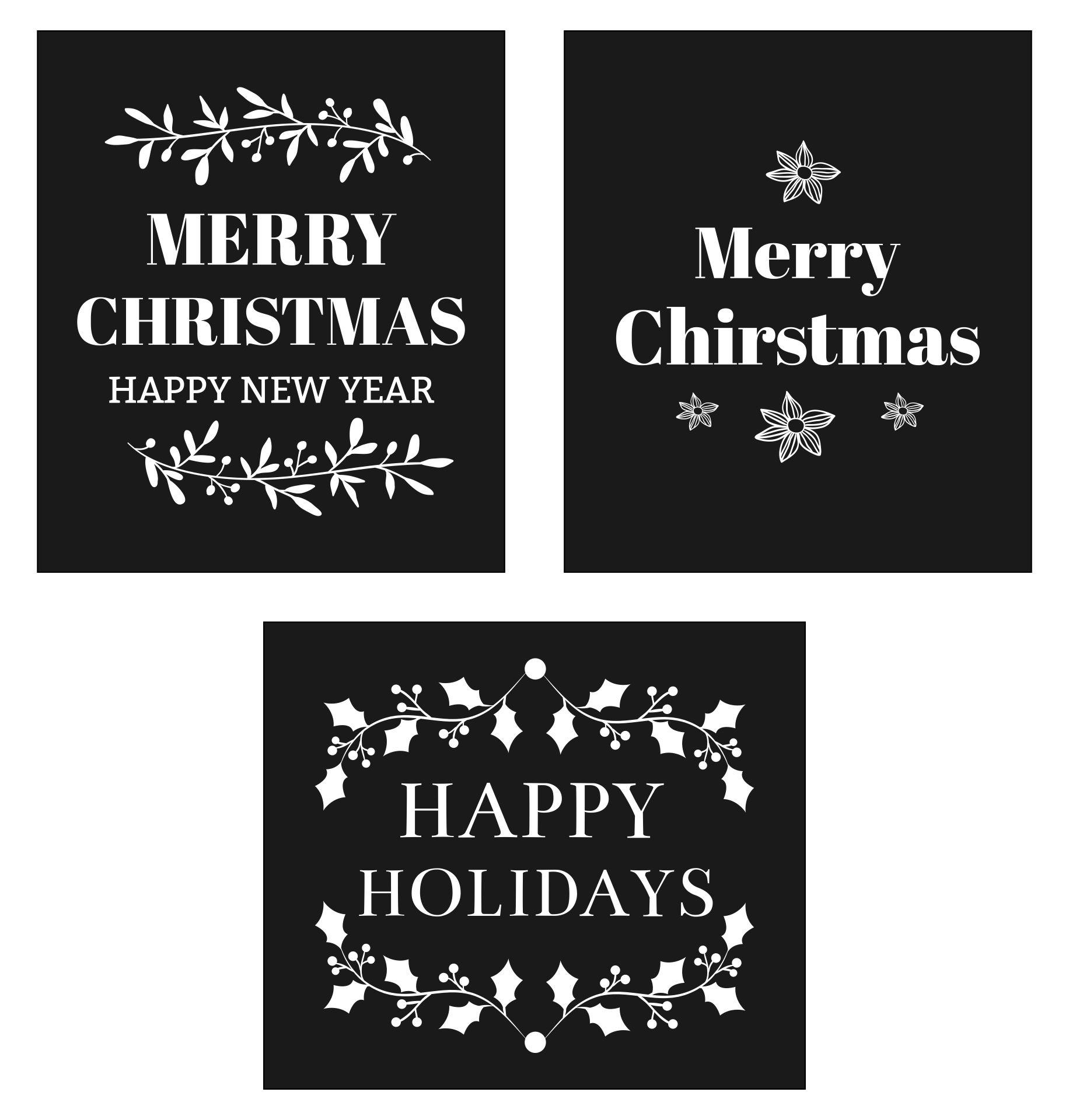 Printable Christmas Chalkboard Signs