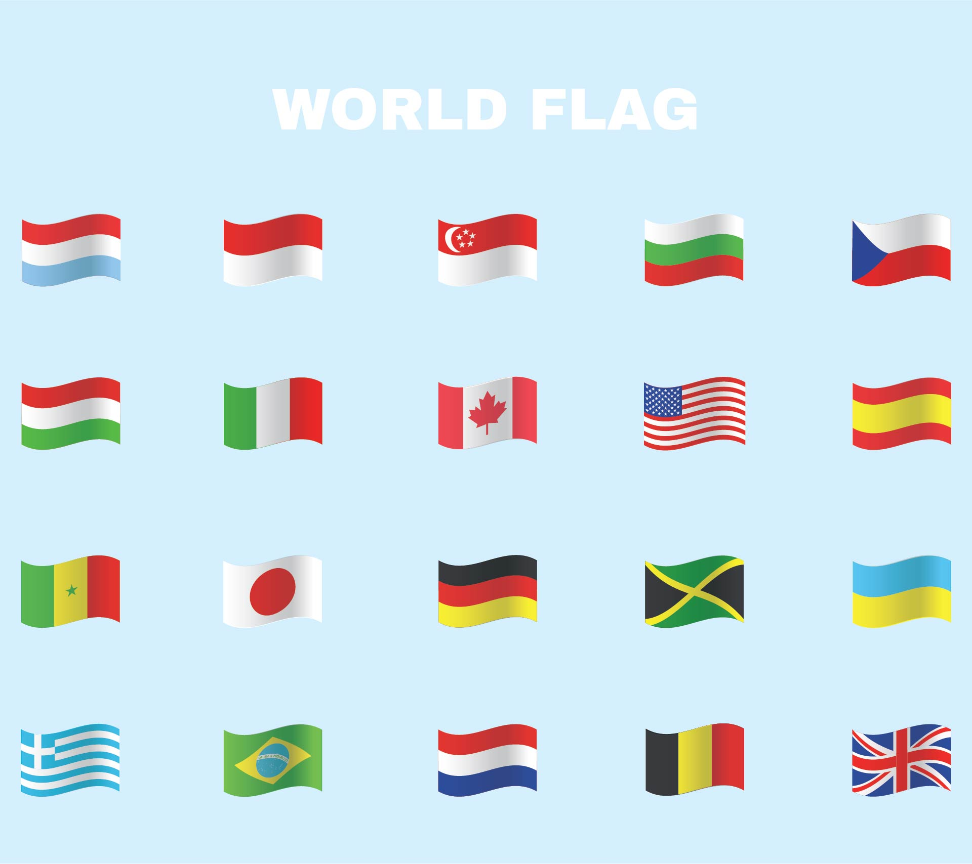 Miniature Printable World Flags Downloadable