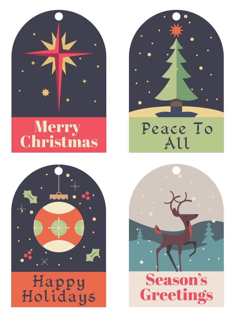 Printable Christmas Gift Tags From Santa