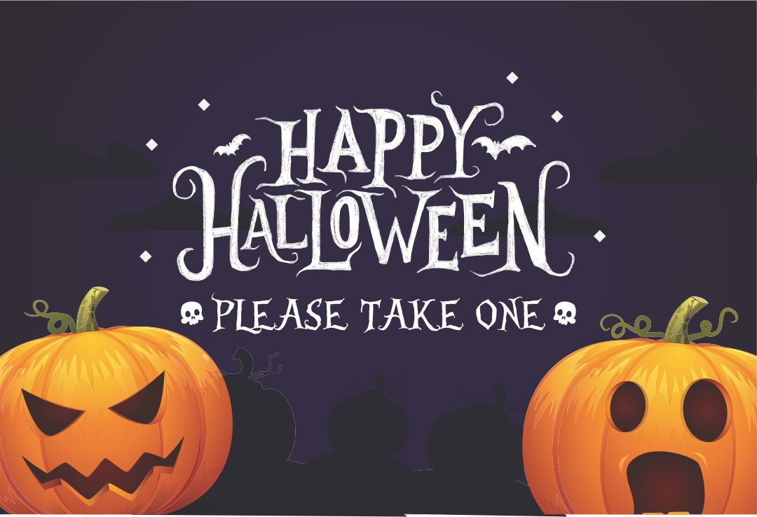Take One Printable Halloween Signs