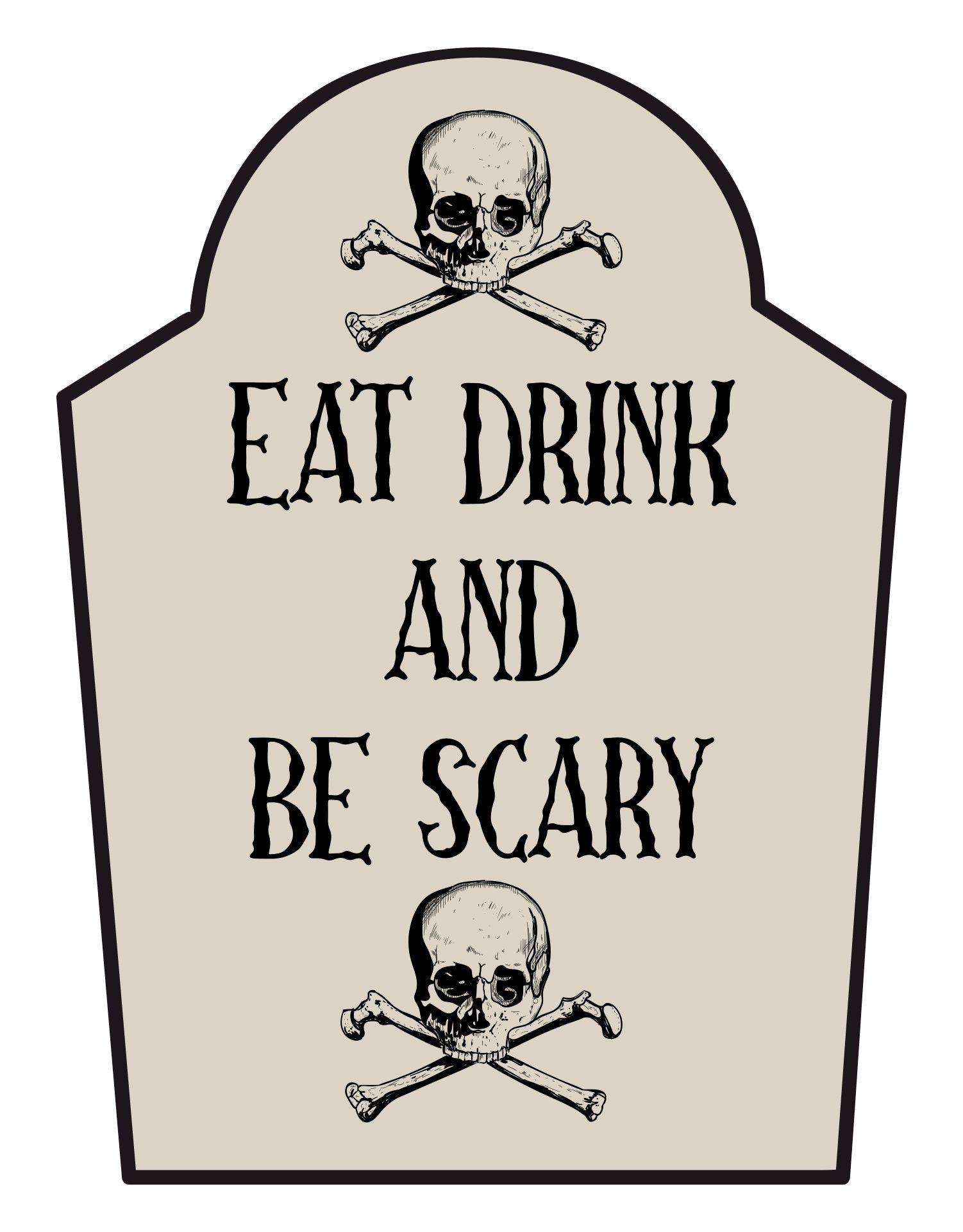 Scary Halloween Signs Printable
