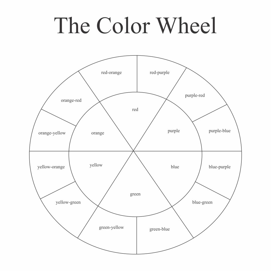 Color Wheel Printable For Students