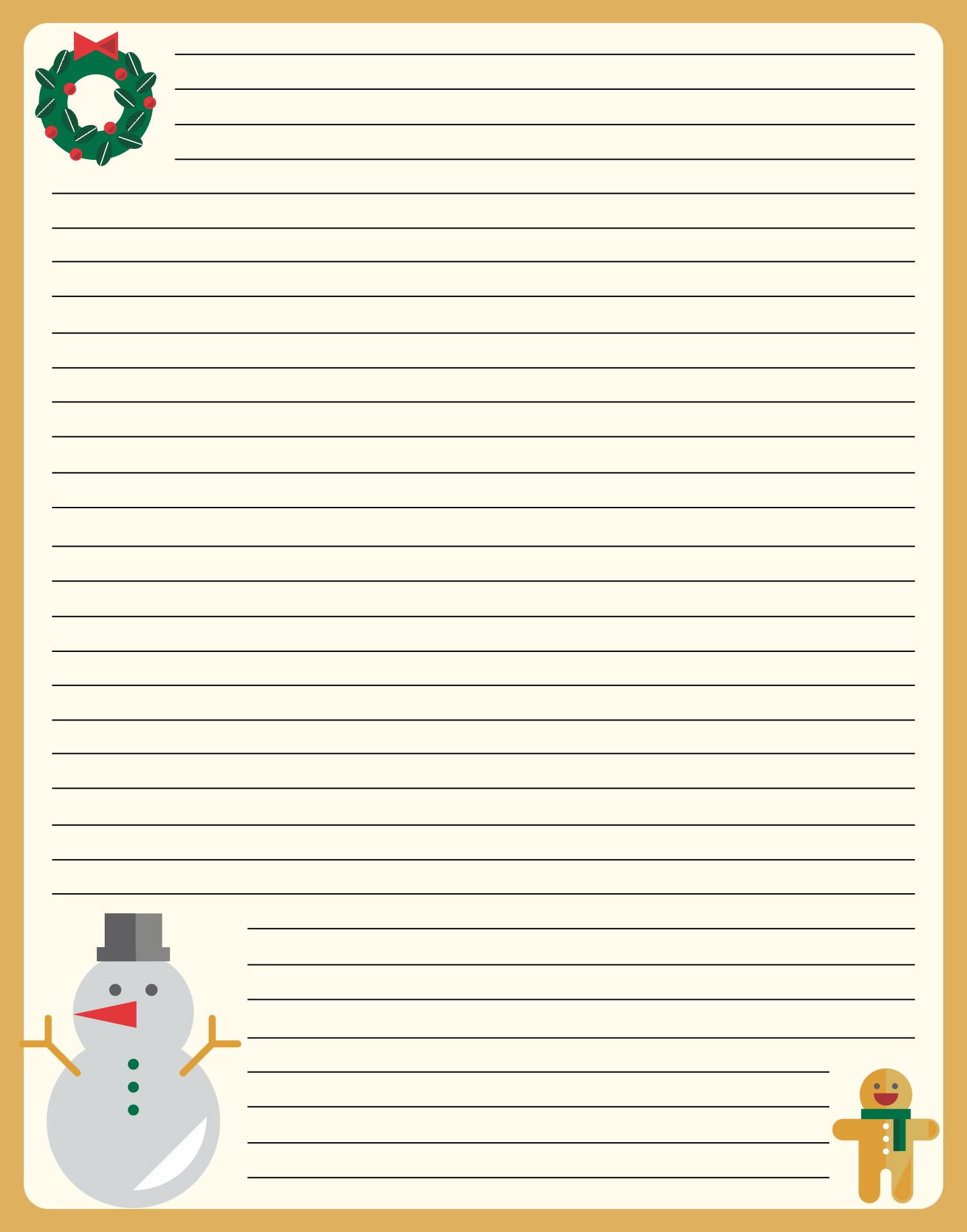 Printable Christmas Stationery Designs