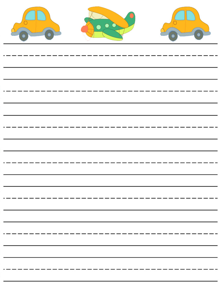 Printable Lined Writing Paper Kids