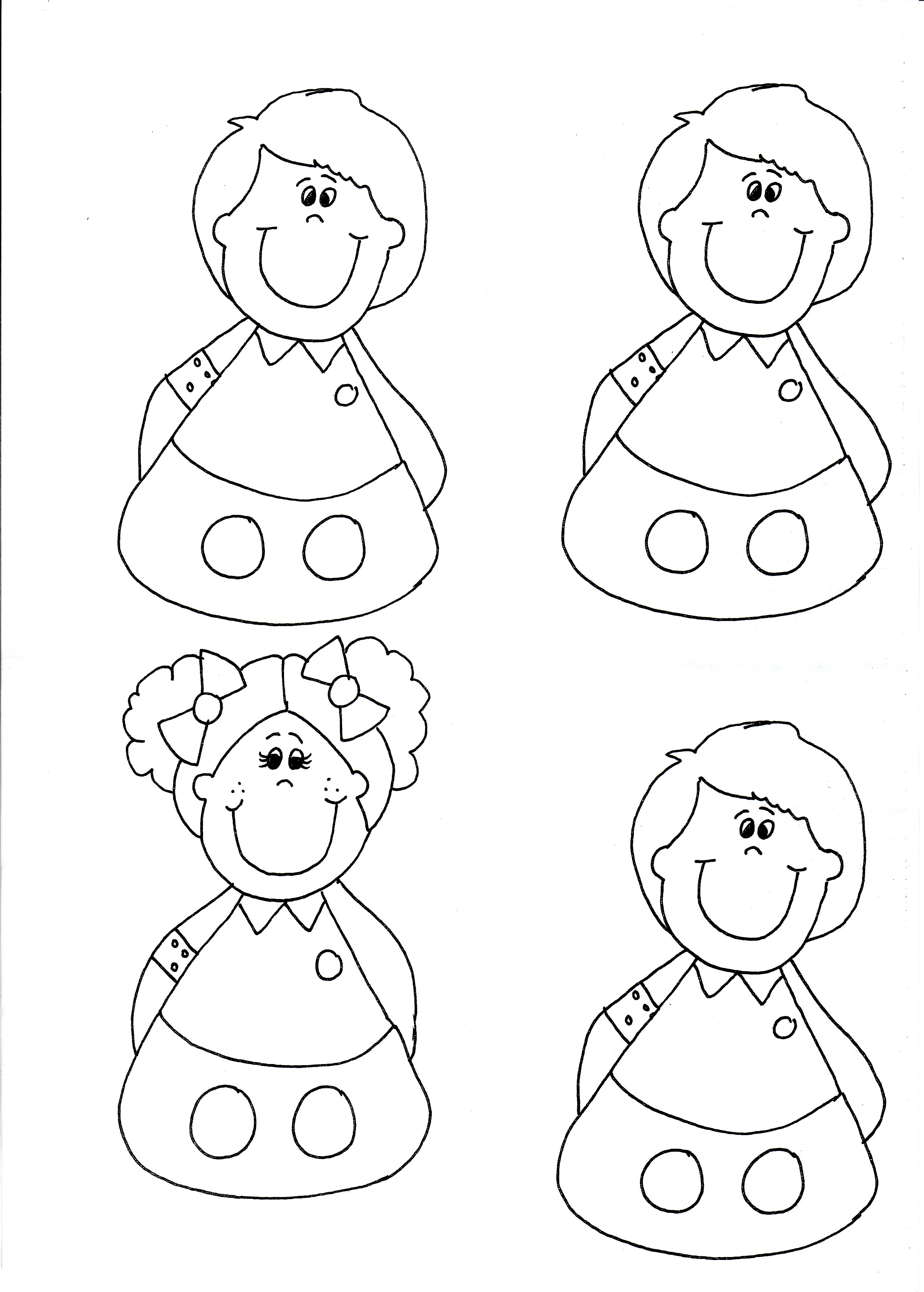 8 best images of people puppet printable template finger for Person template preschool