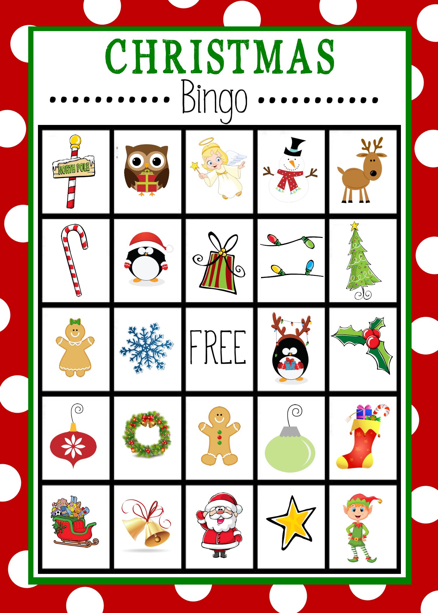 Printable Christmas Bingo Sheets
