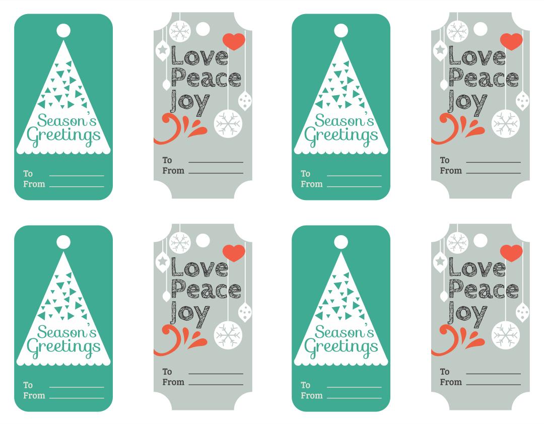 Christmas Mistletoe Gift Tags Printable