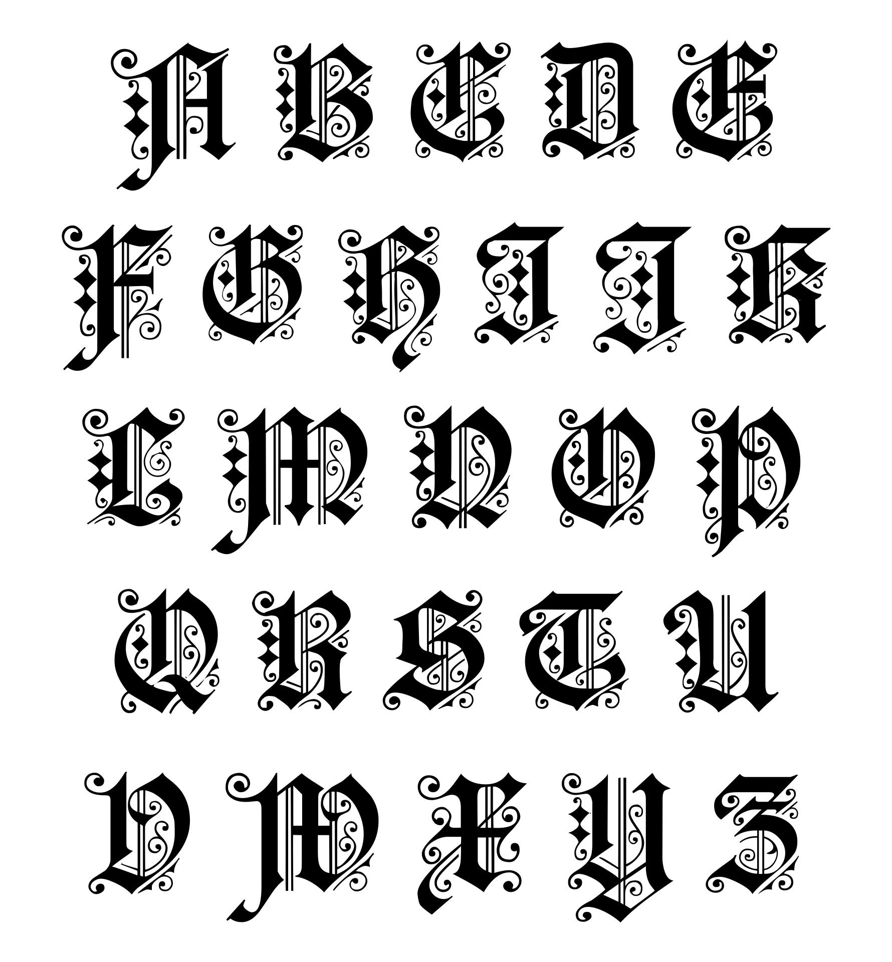 Manuscript Printable Alphabet Art