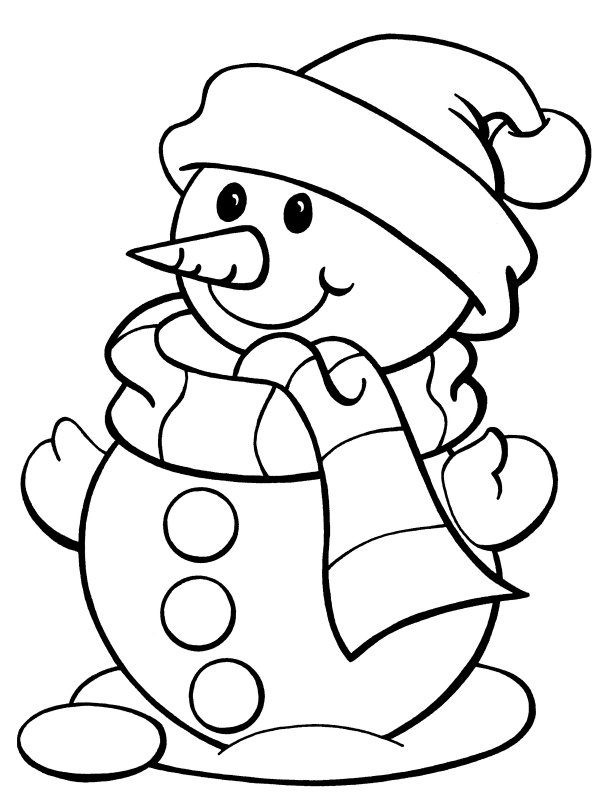 Printable Christmas Coloring Pages Snowman Frosty