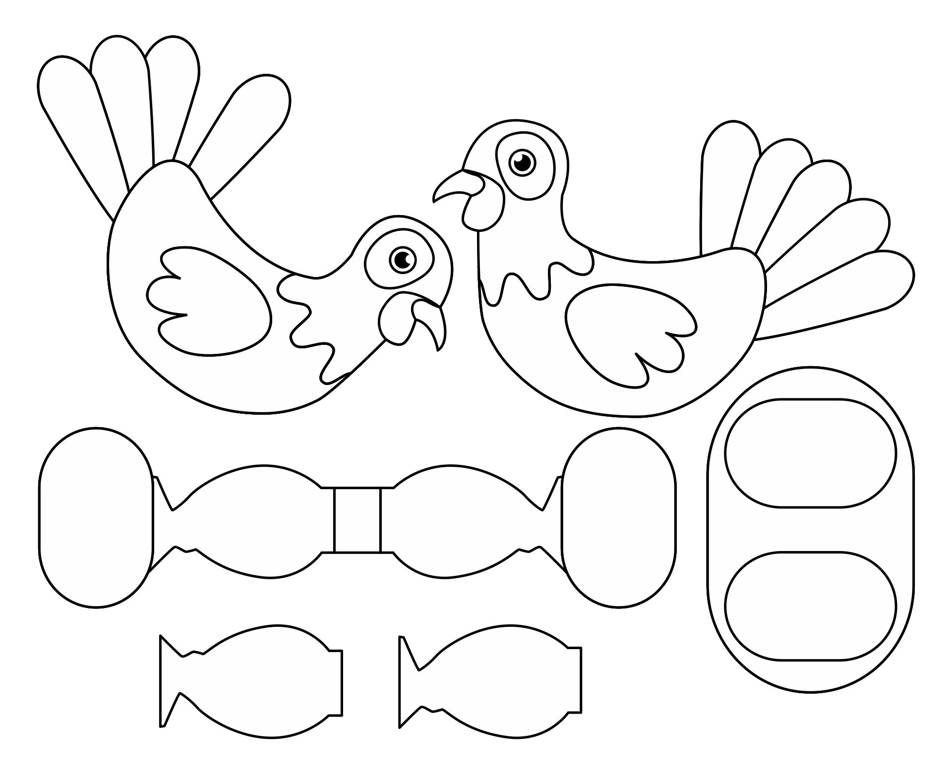 Thanksgiving Turkey Cutouts Printable