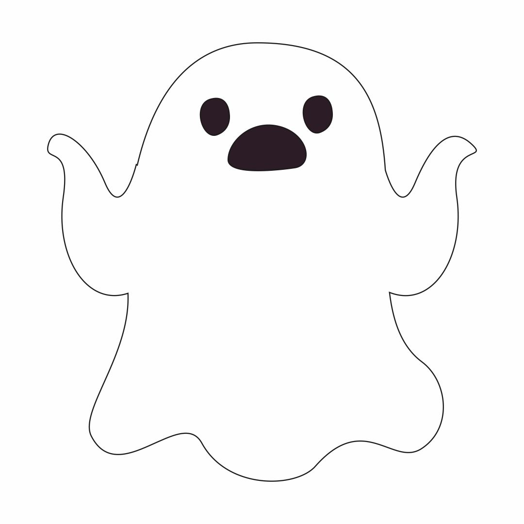 Ghost Face Template Printable