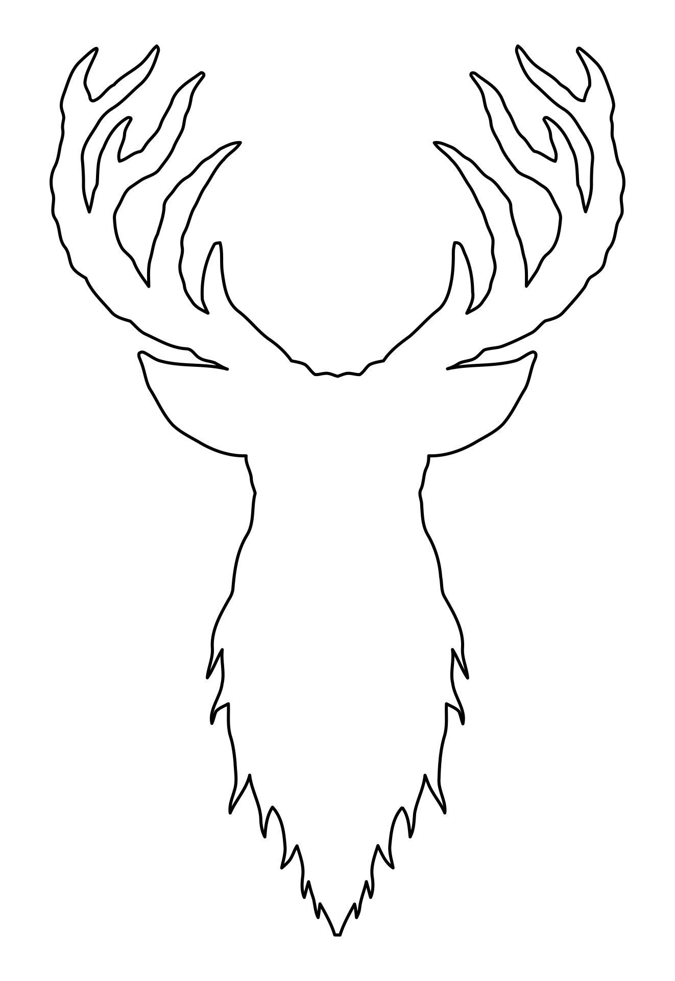 Printable Deer Stencils