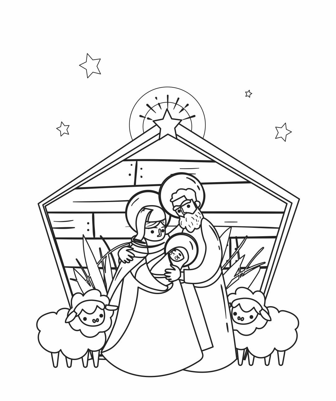 Christmas Coloring Printable Invitations