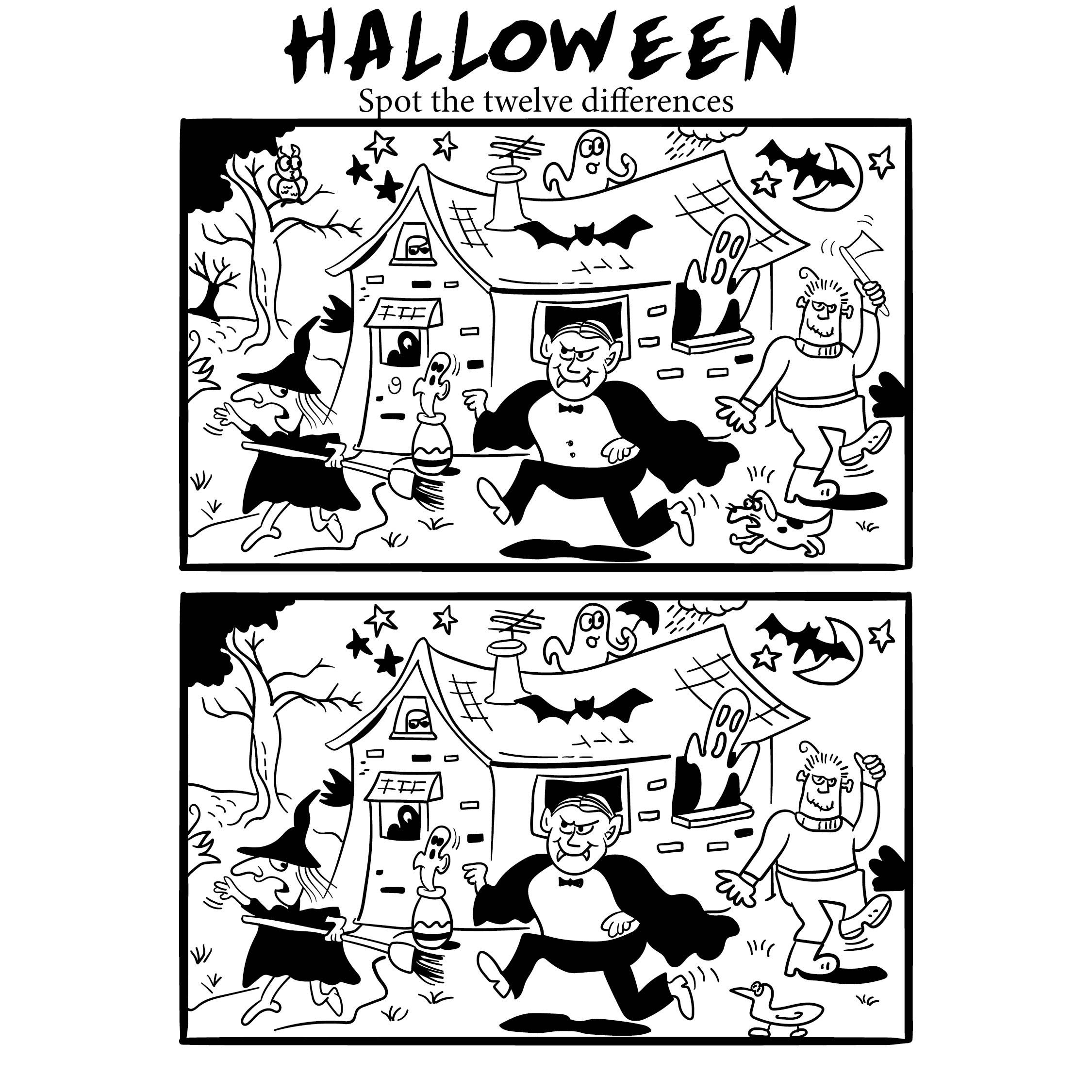 Find Hidden Pictures Printable Halloween