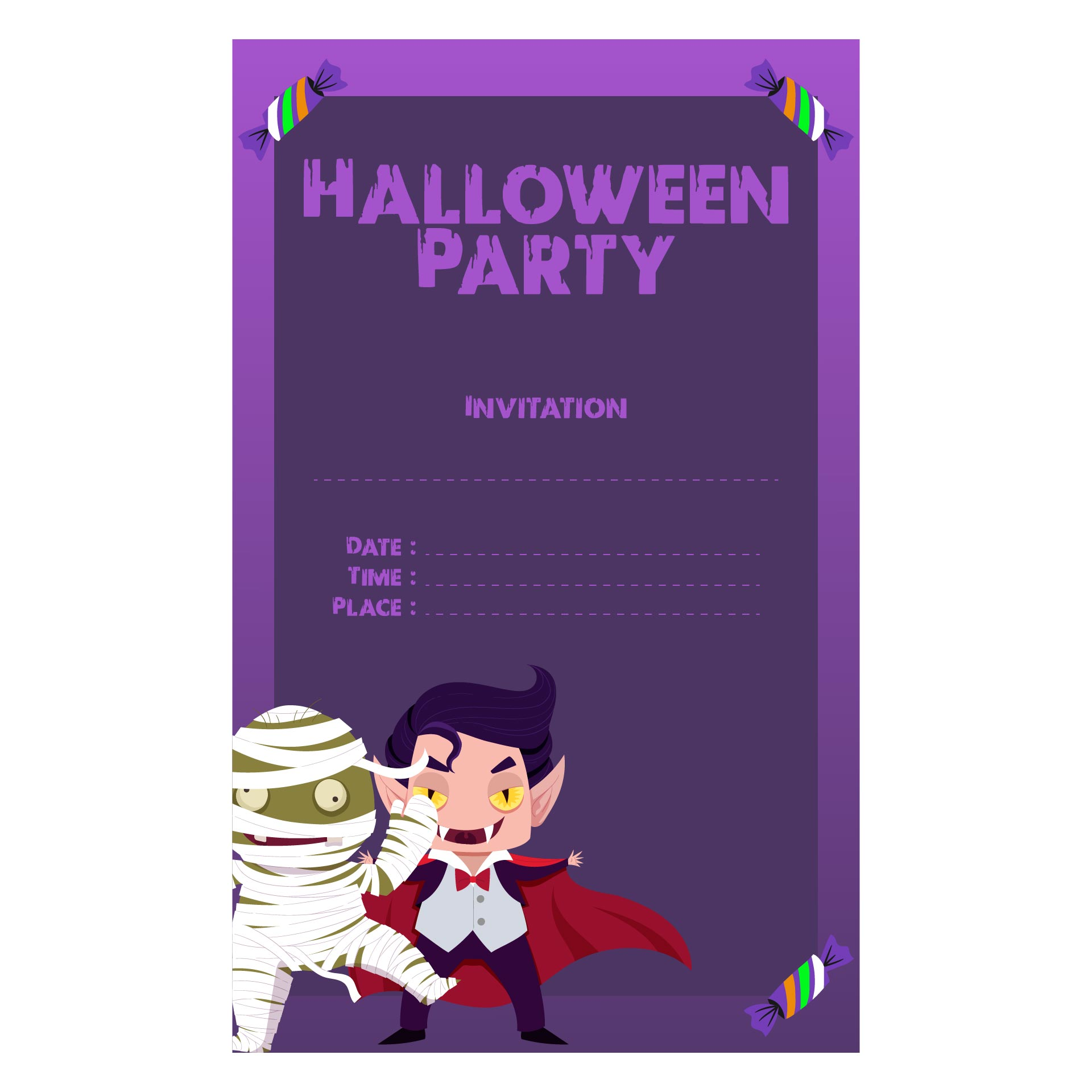 Halloween Party Invites Printable