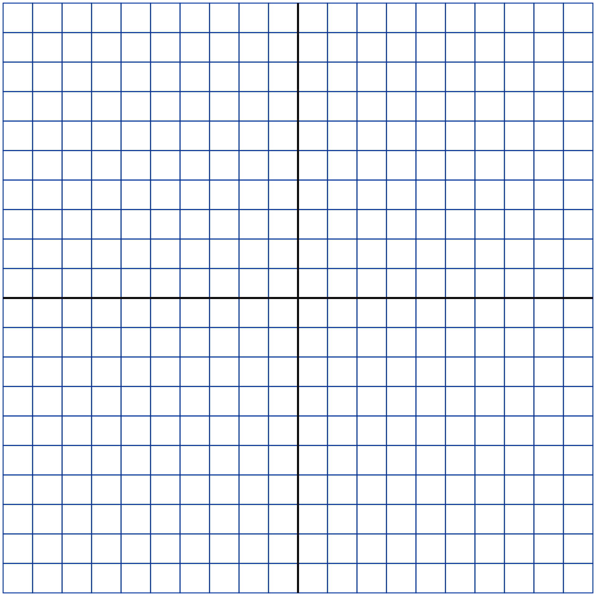 20 X 20 Grid Printable