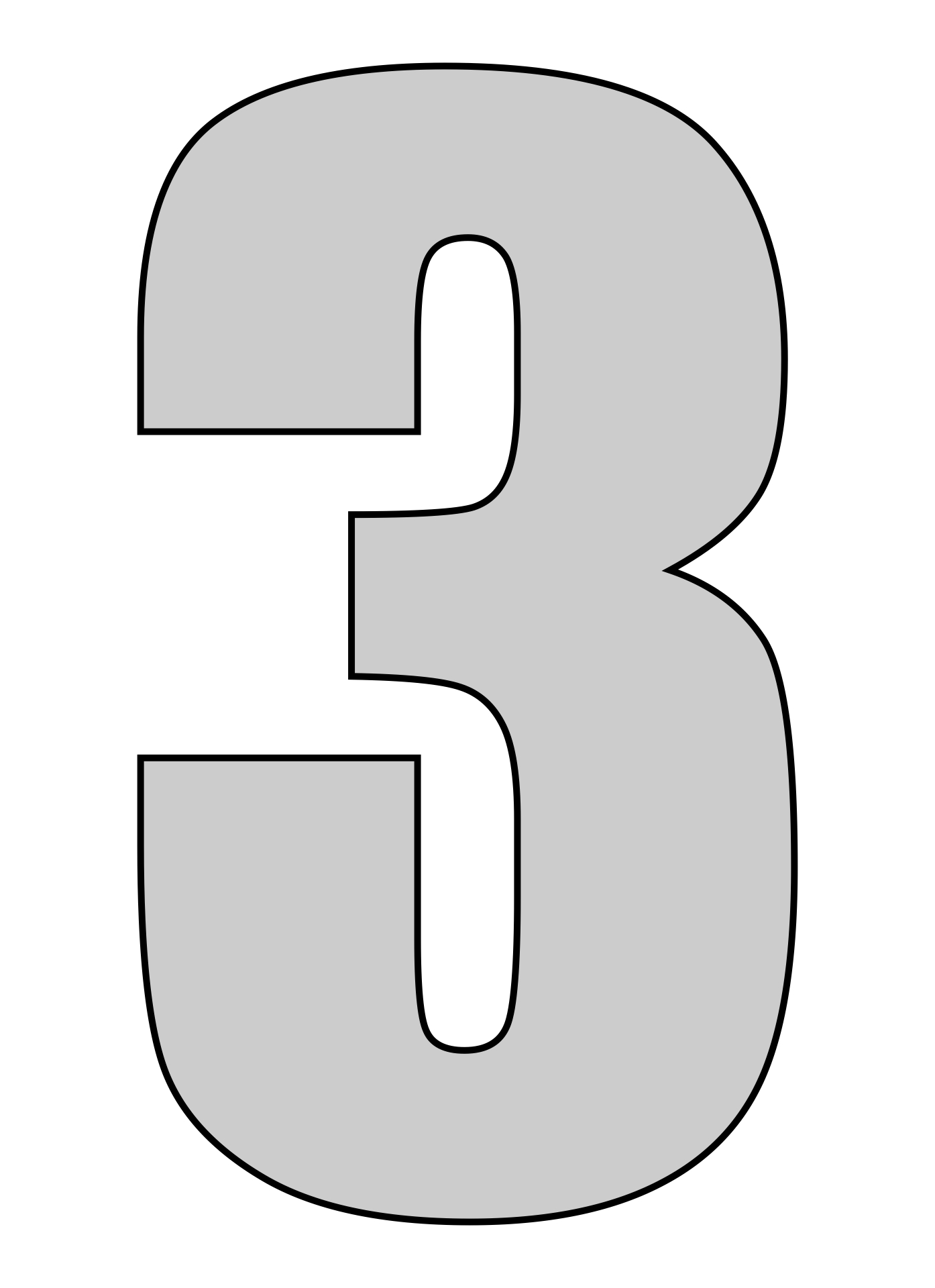 Number 3 Printable Templates
