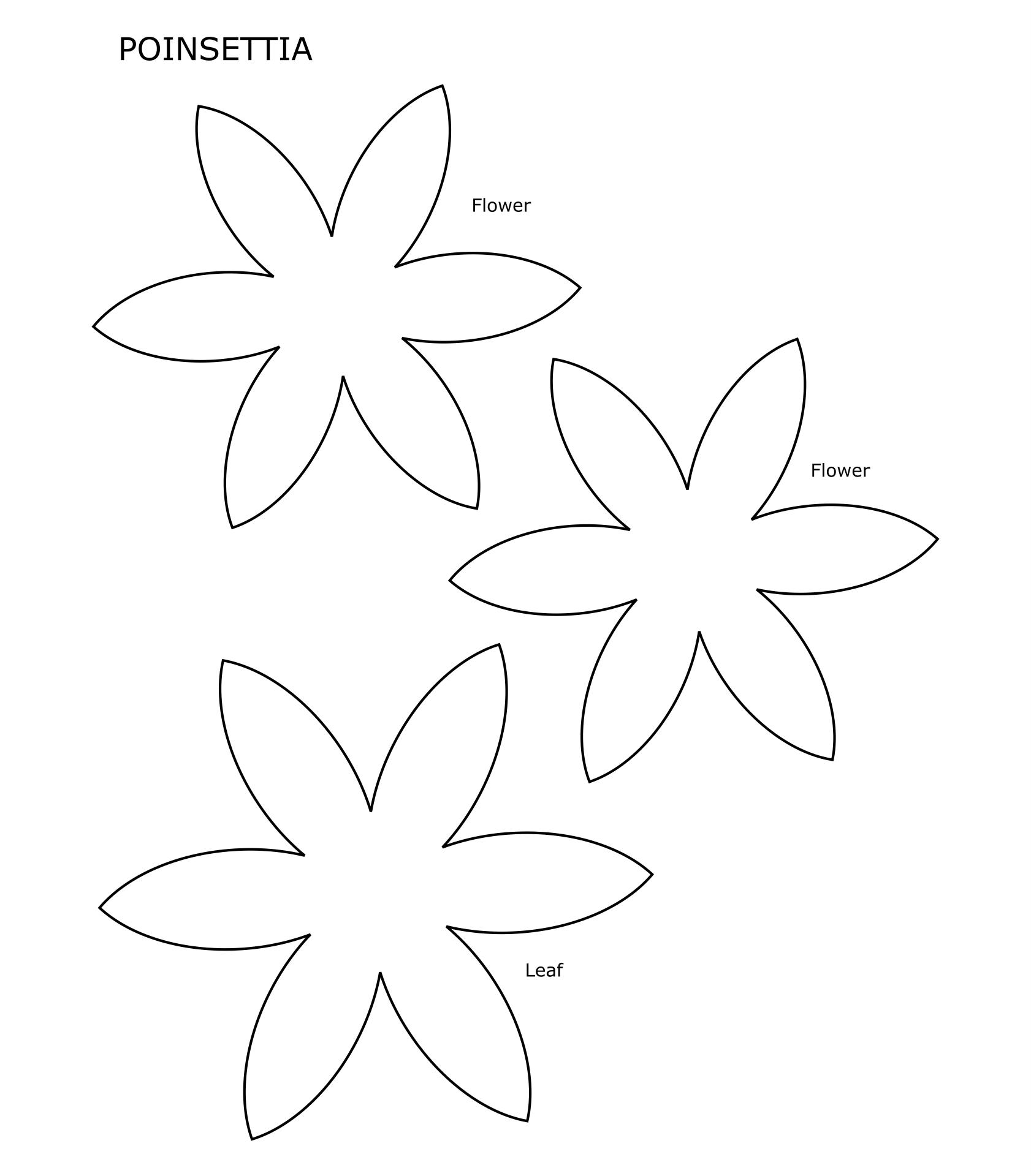 Felt Christmas Flower Printable Templates