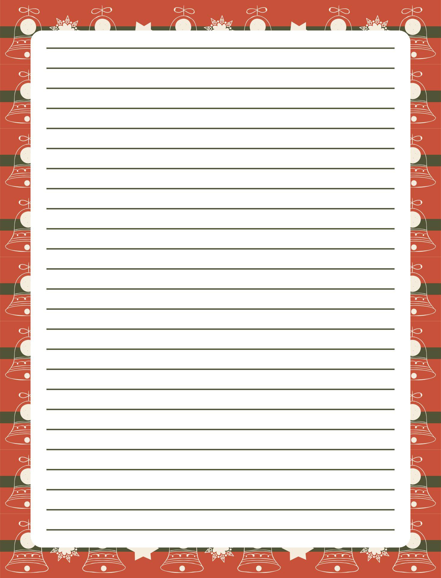 Printable Christmas Border Writing Paper