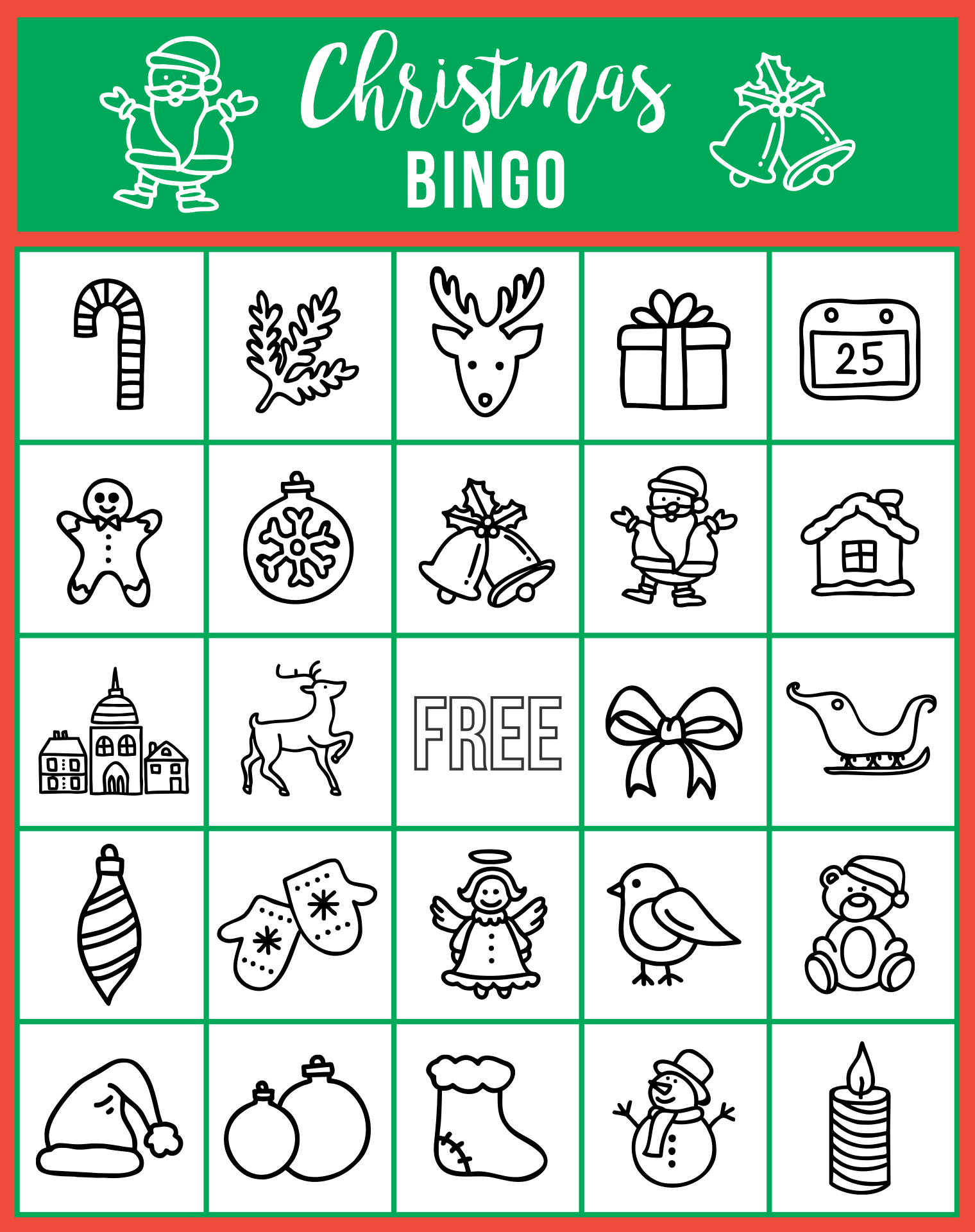 Printable Christmas Song Trivia Game