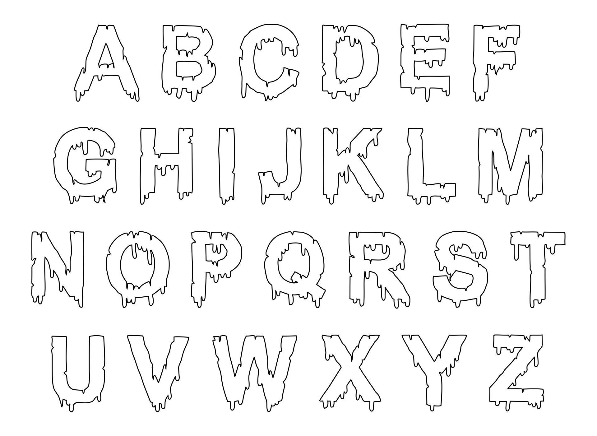 Halloween Letter Stencils Printable