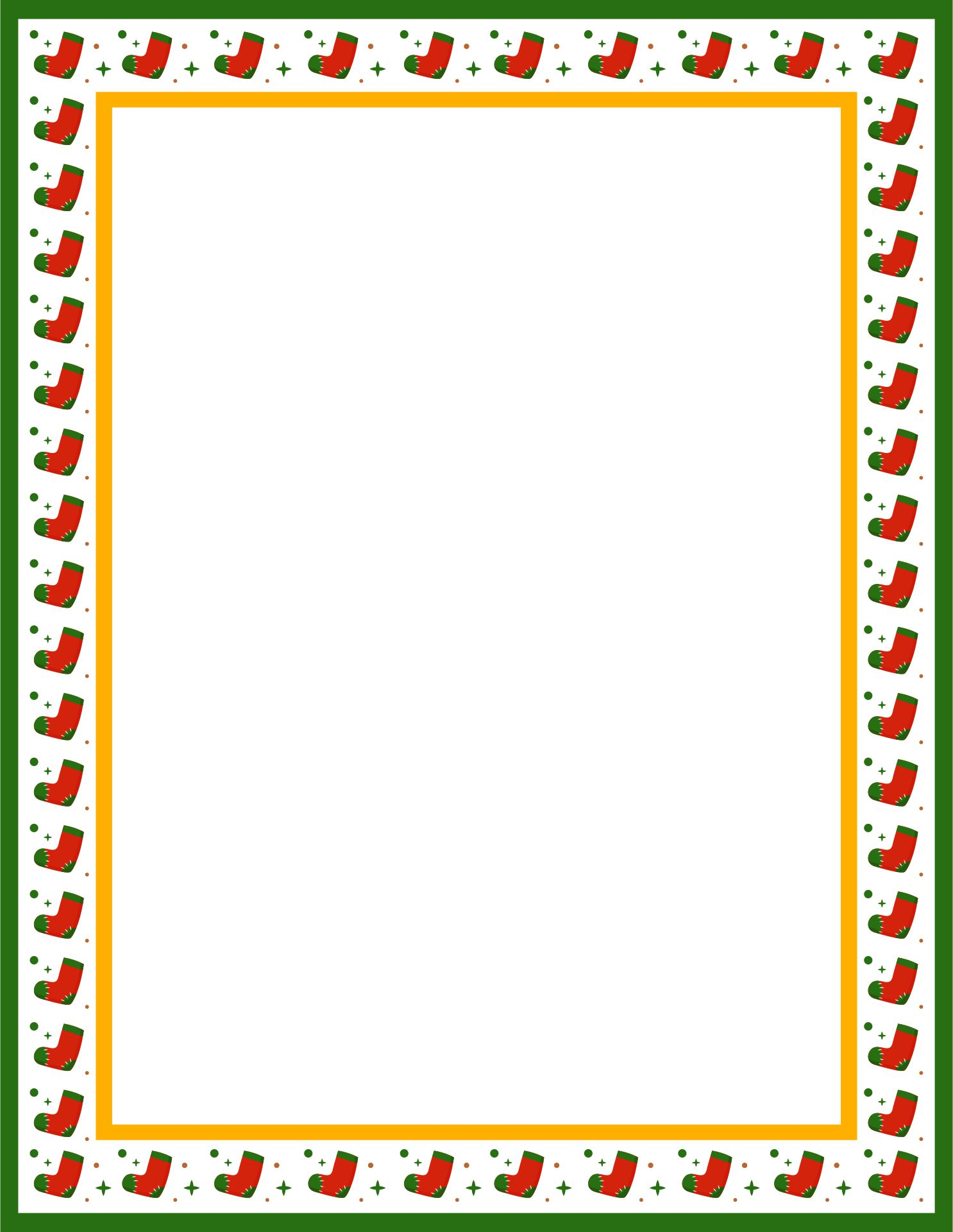 Printable Christmas Border Templates