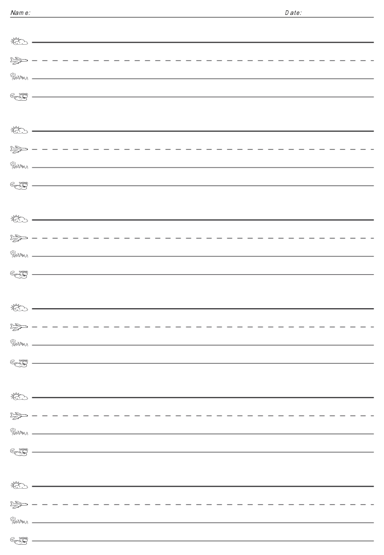 Fundations Lined Paper Printable