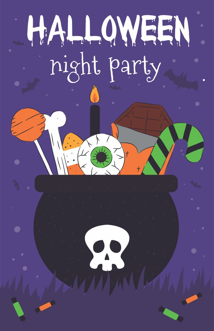 Printable Halloween Invitation Witch