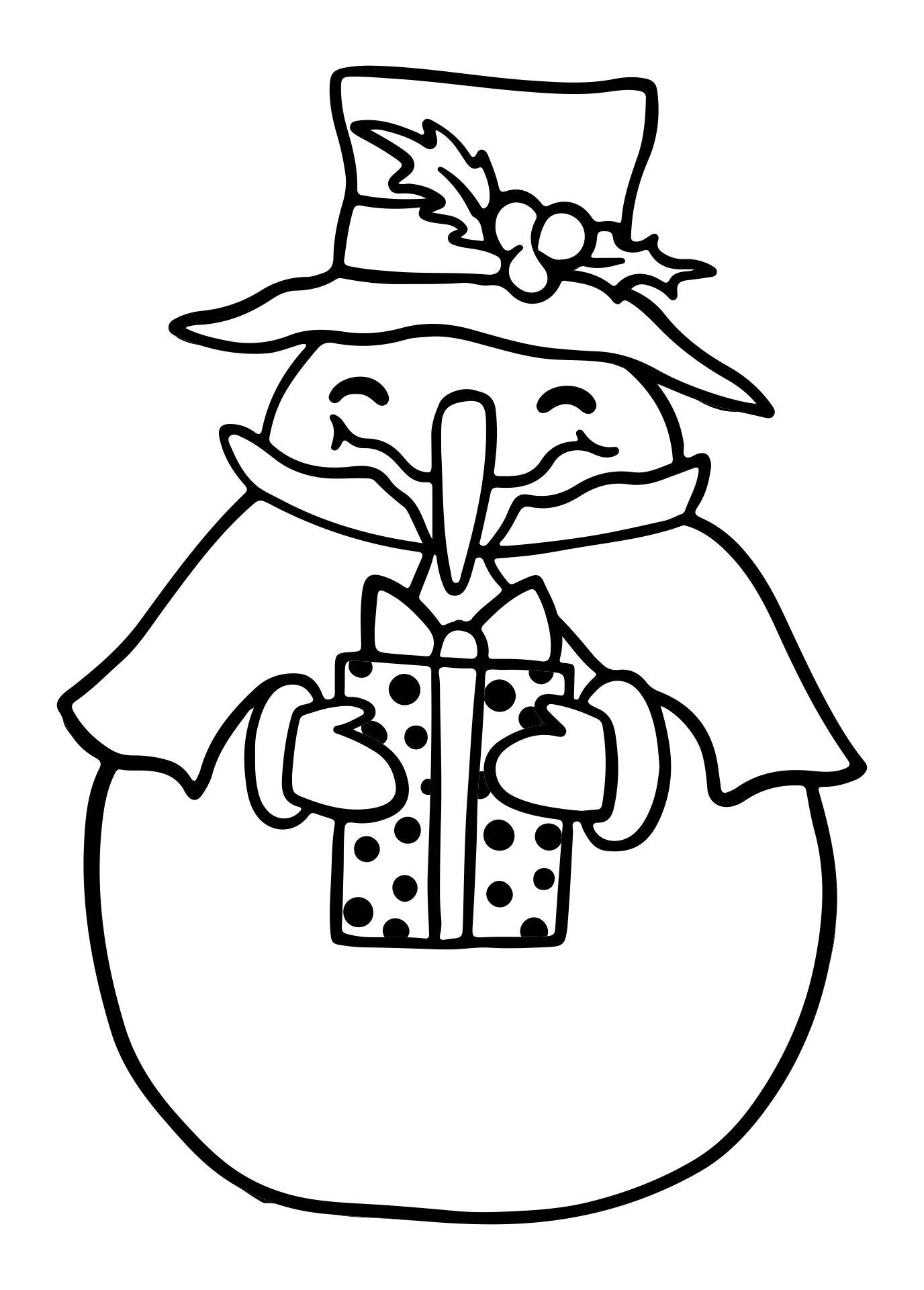 Printable Christmas Snowman