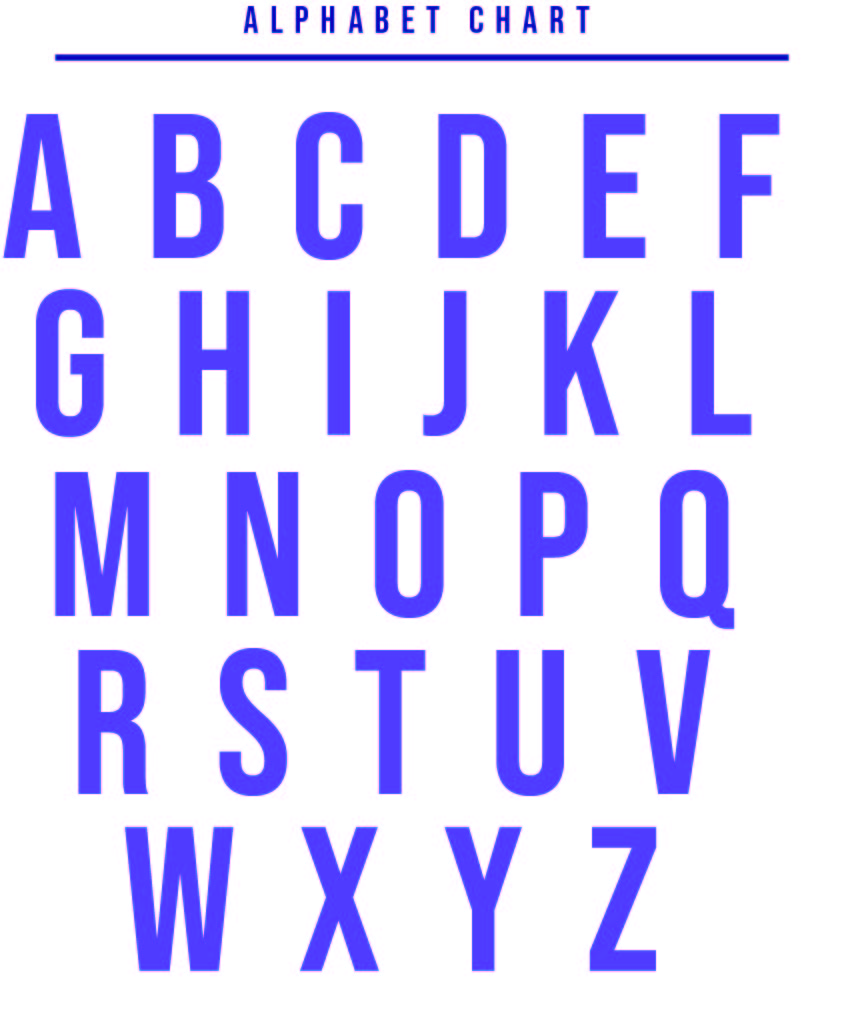 Printable Letter Chart