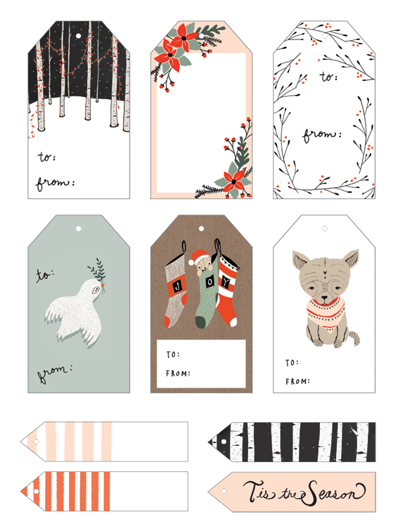 Christmas Card Tags Printables