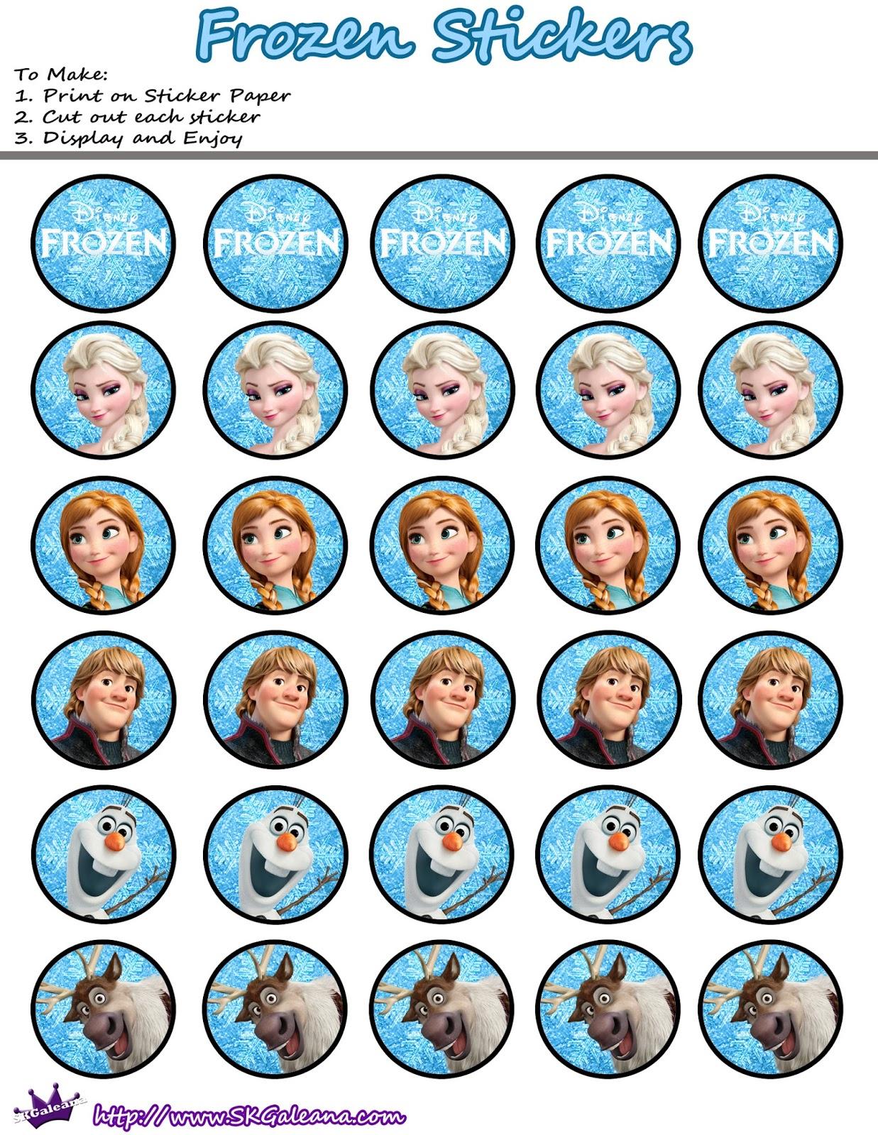 Printable Stickers Frozen