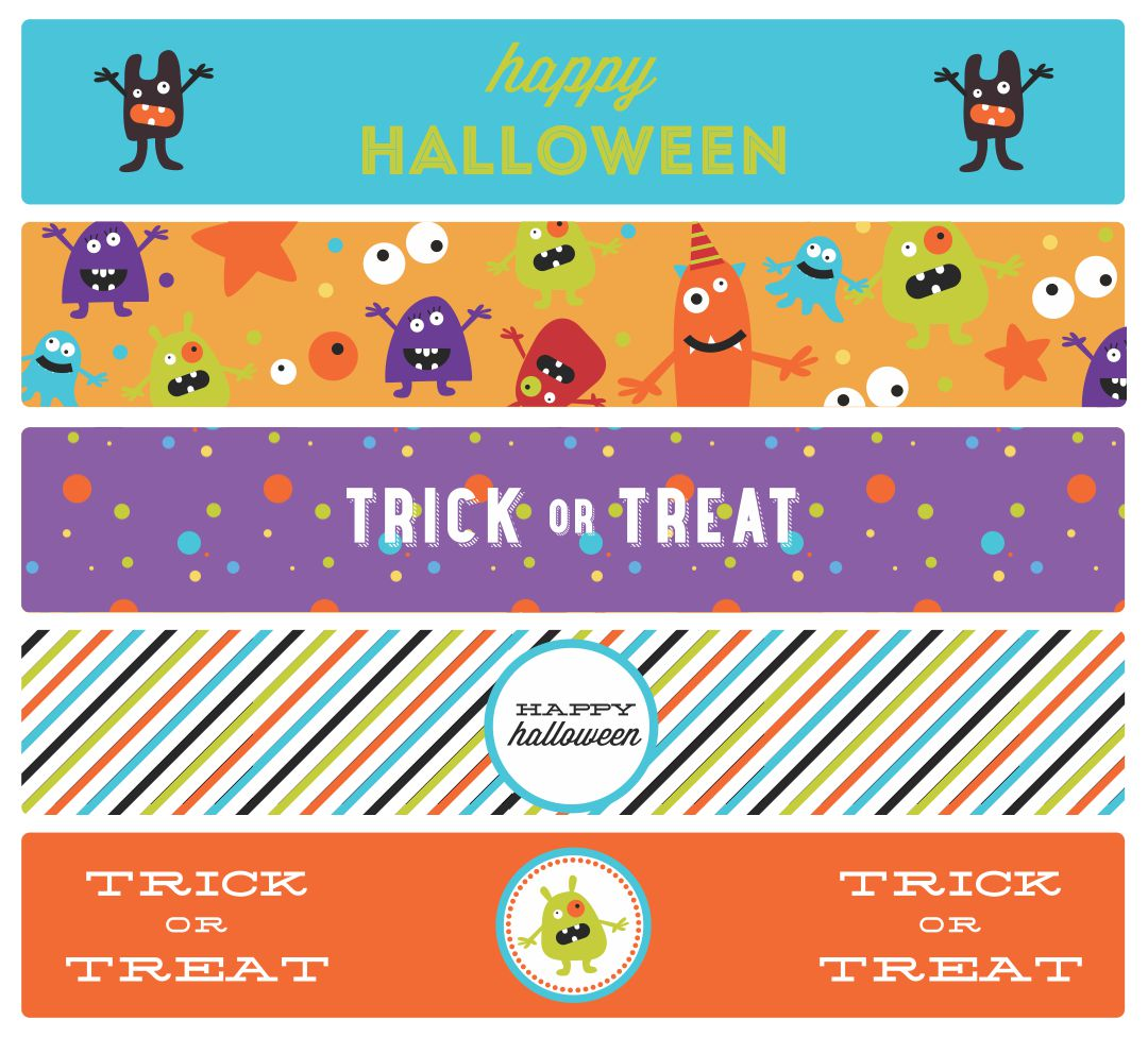Halloween Water Bottle Labels Printable