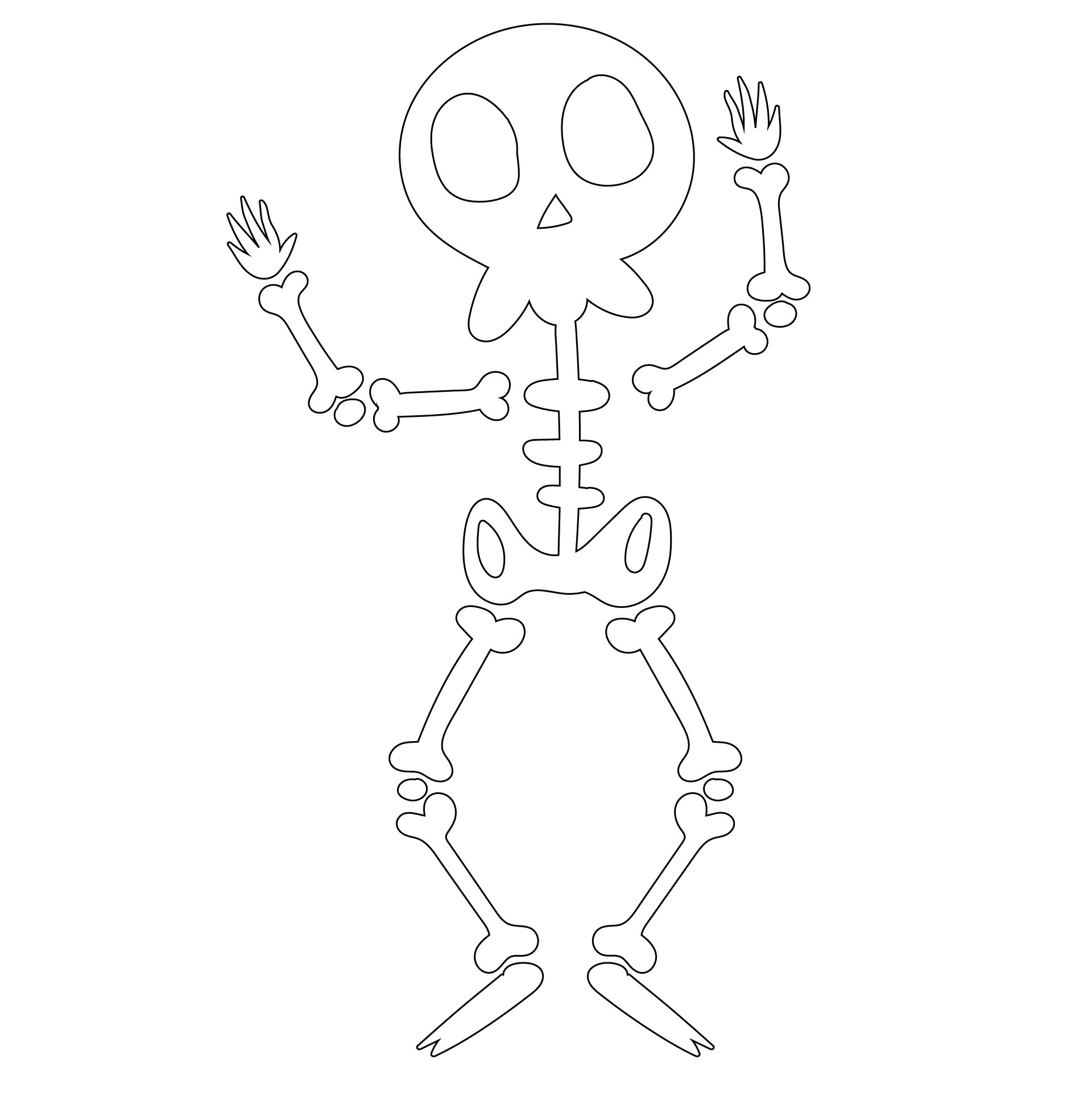 Printable Halloween Skeleton Game