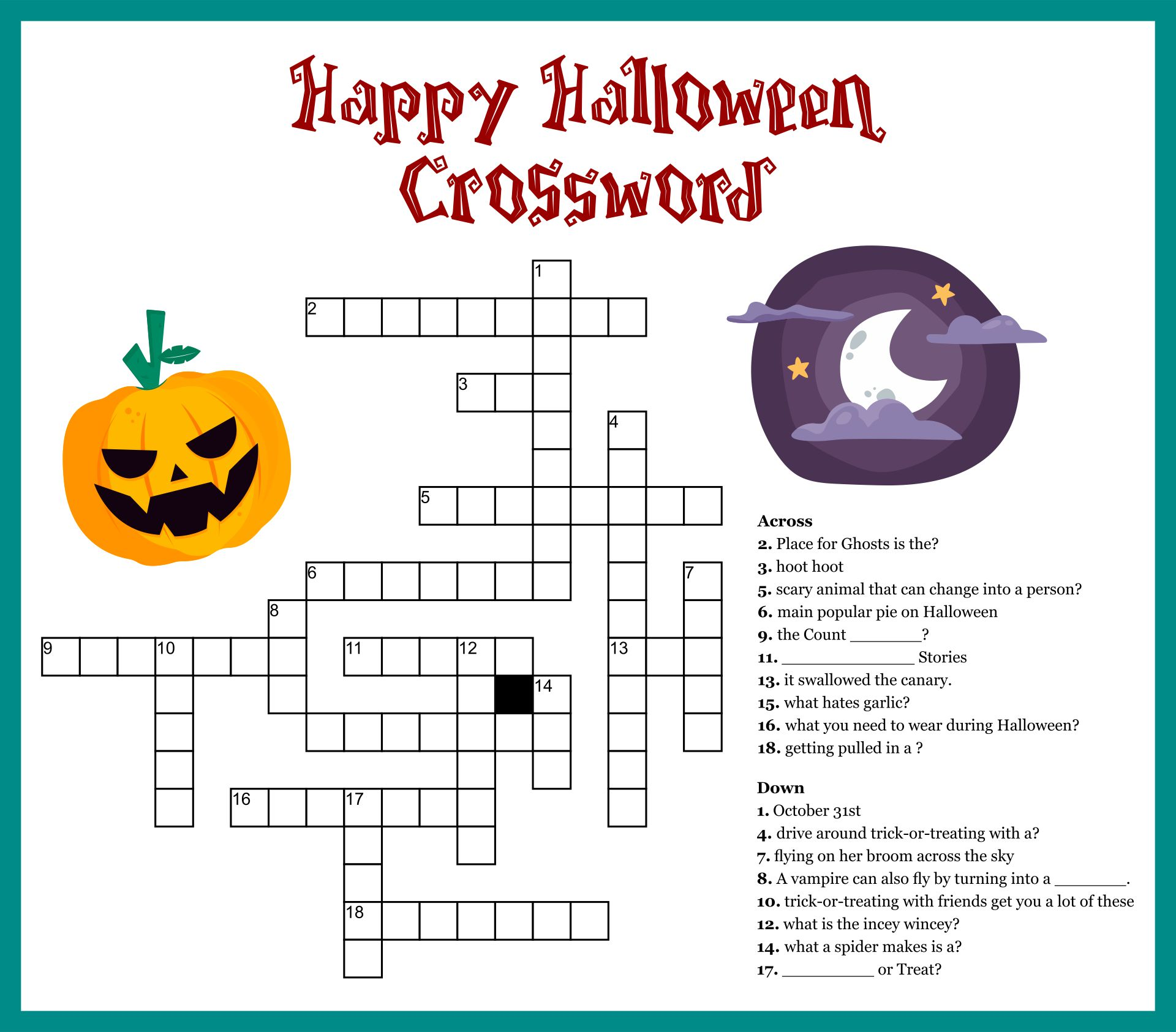 Halloween Puzzles Printable