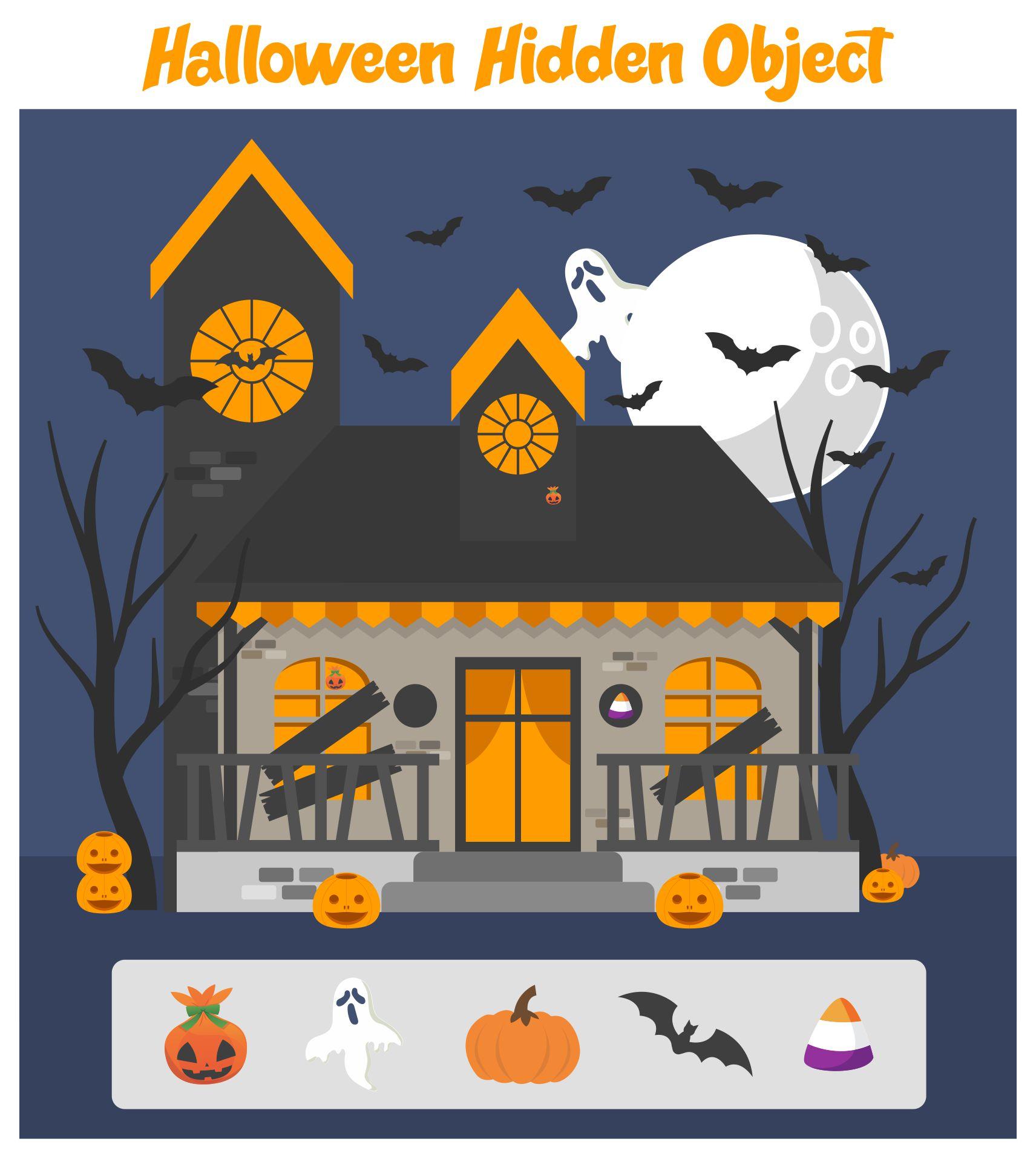 Printable Halloween Hidden Picture Activities