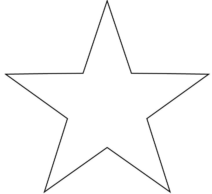 Fancy Christmas Star Template Printable
