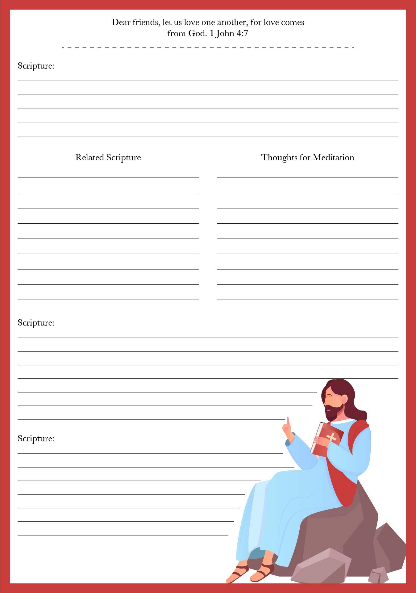 Printable Bible Study Notes