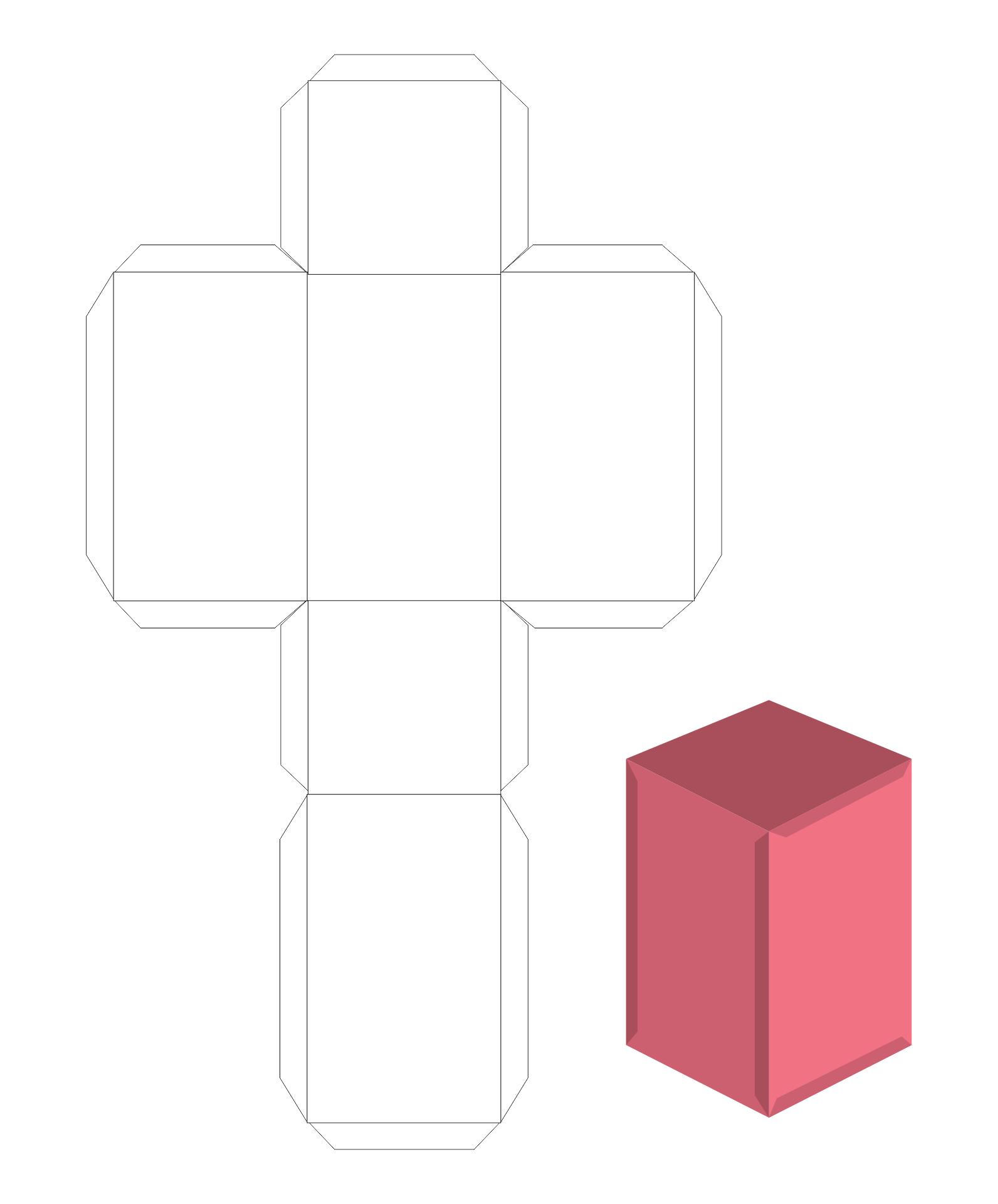 Rectangular Box Template Printable