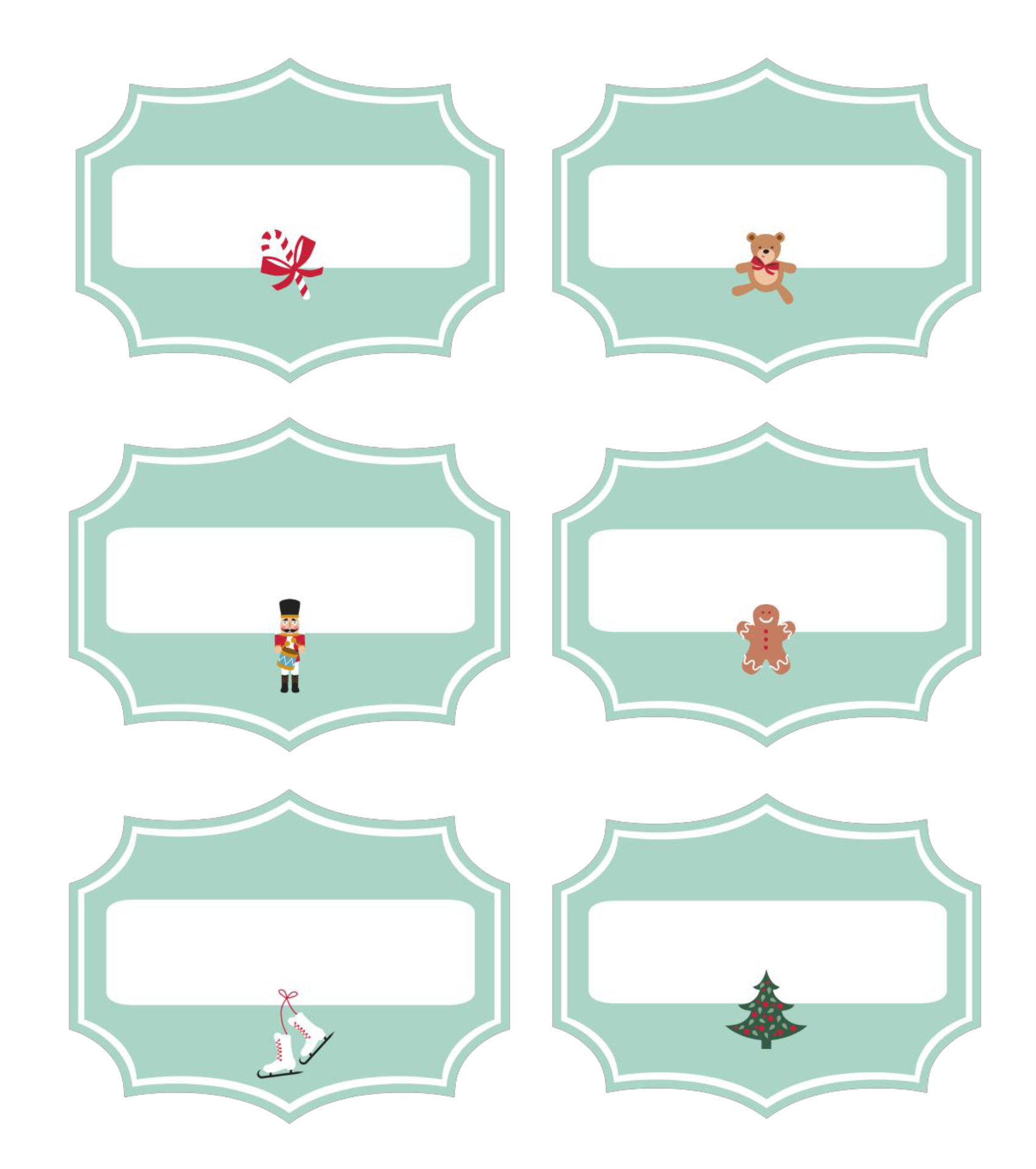 Printable Christmas Labels For Food
