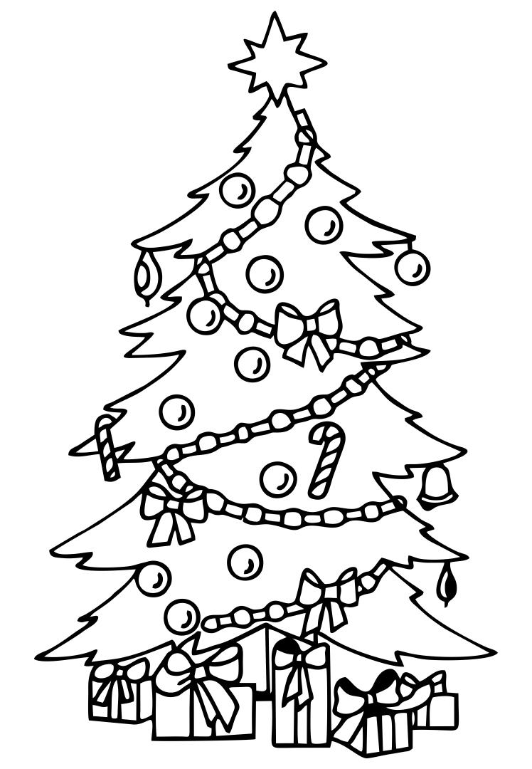 Printable Christmas Tree Clip Art
