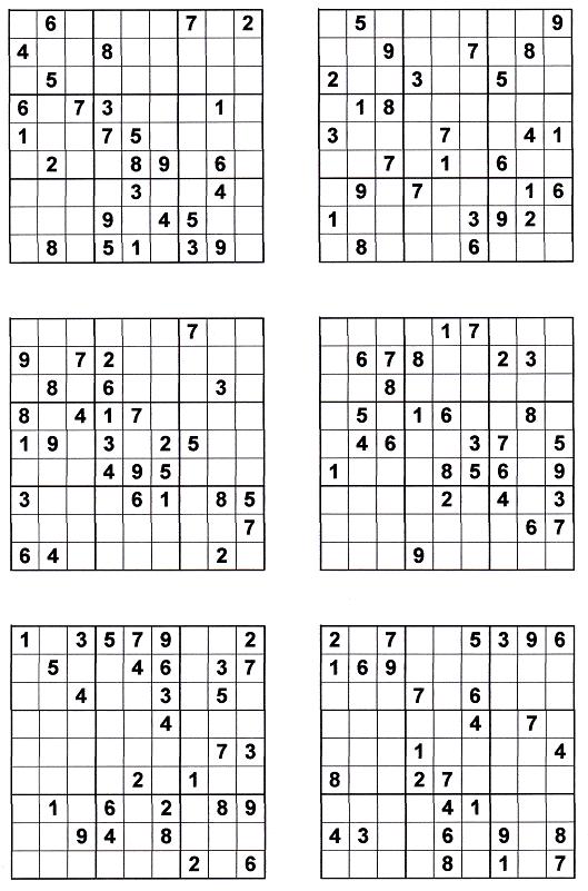 Printable Suduko Worksheets