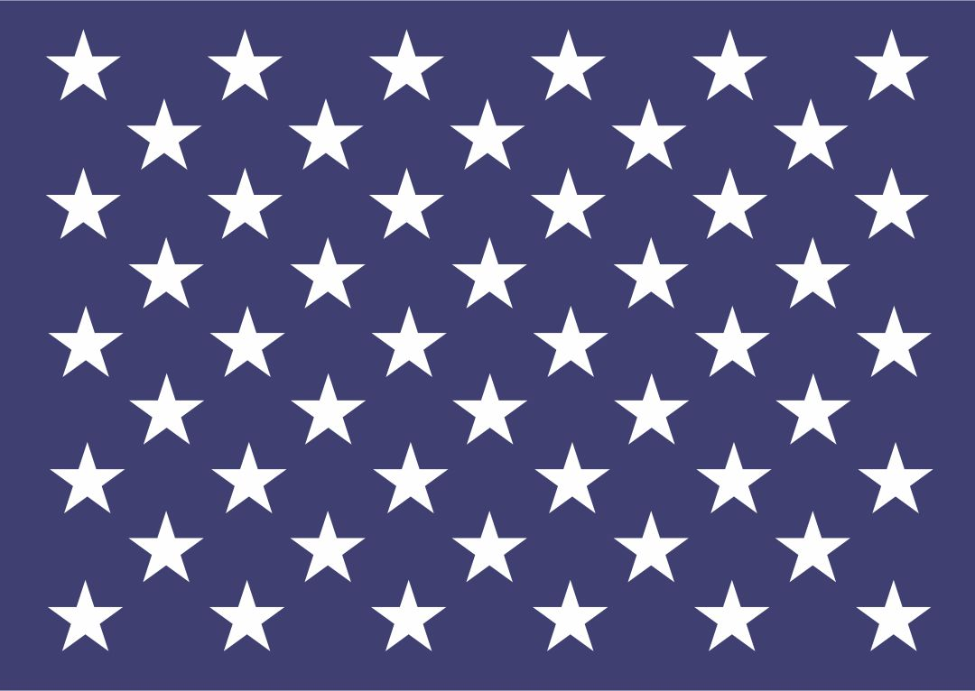 American Flag Stars Stencil Printable 8X11