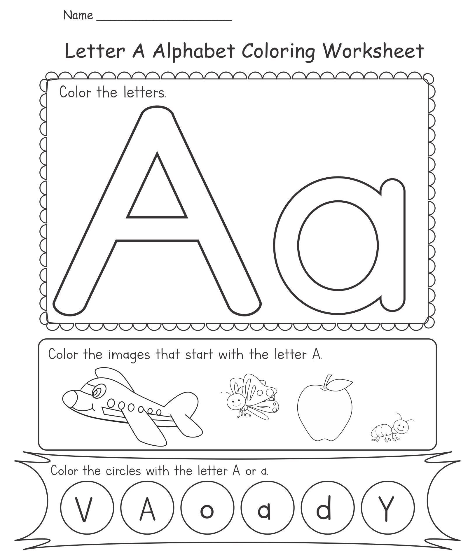 Printable Alphabet Worksheets Kindergarten
